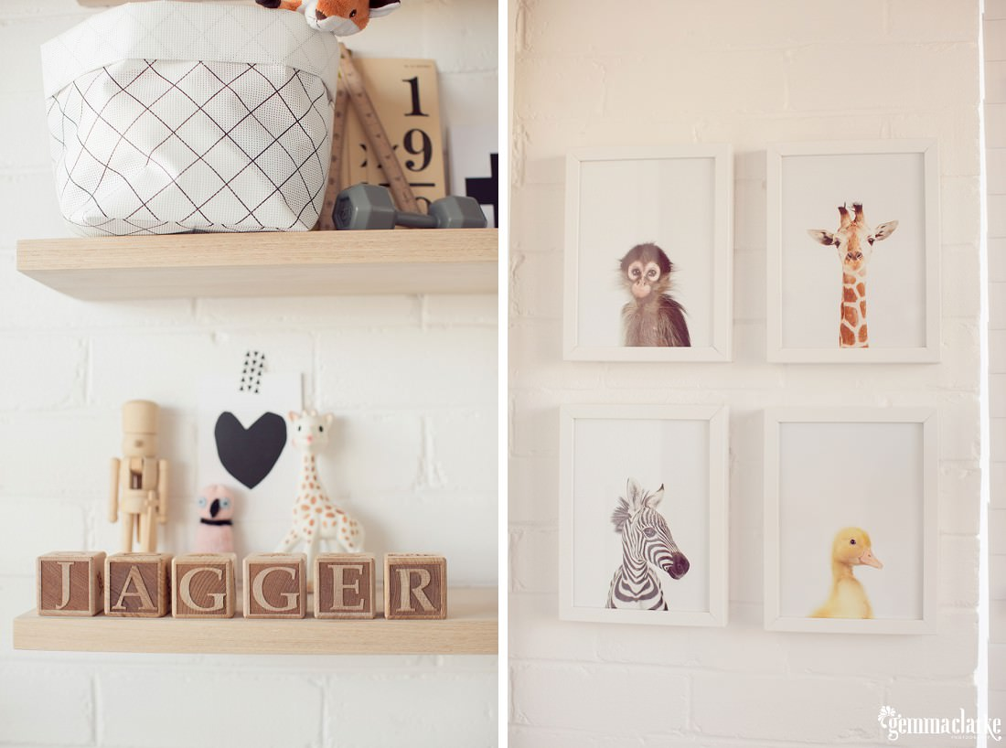 Decorations in a baby's room – Newborn Lifestyle Portraits