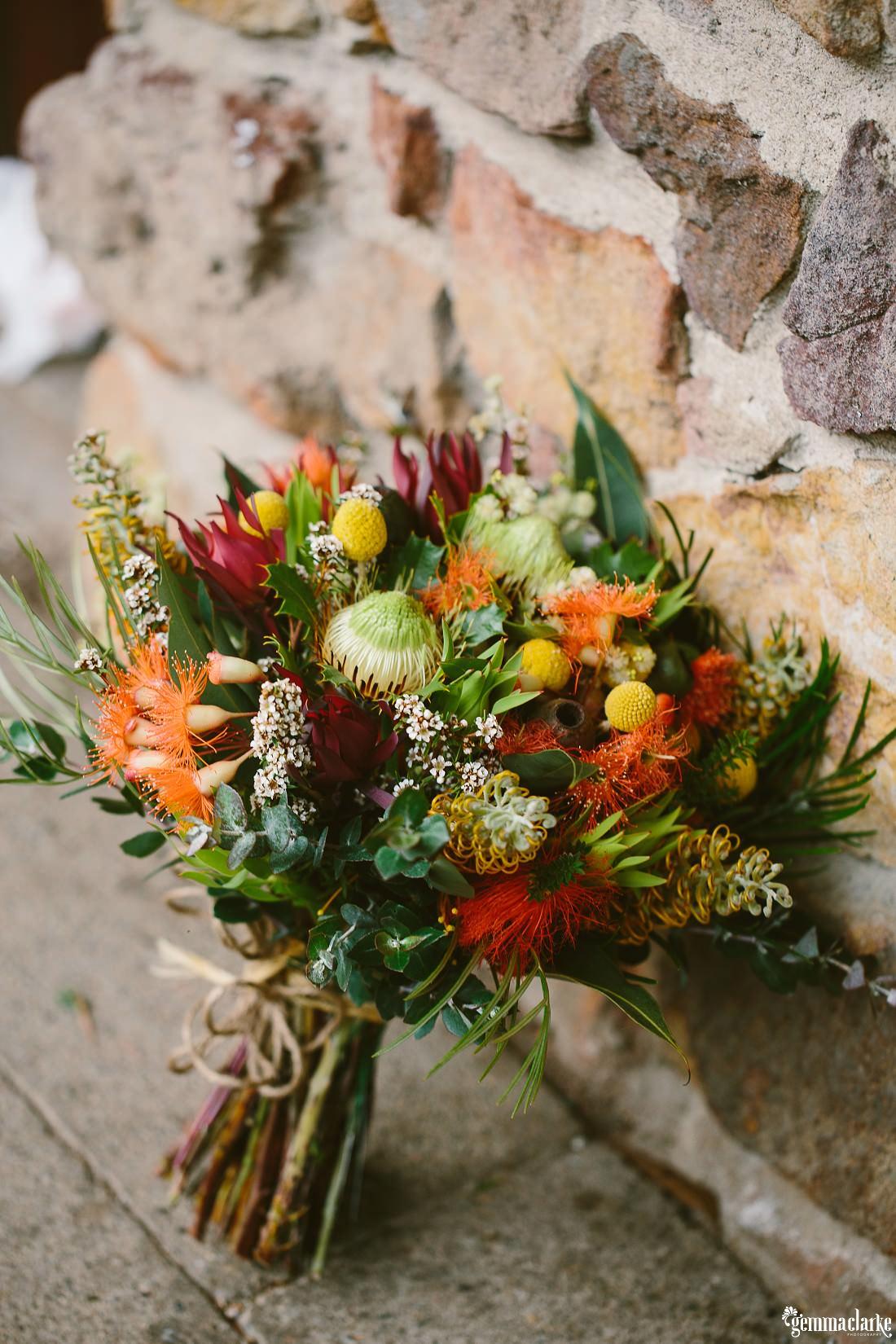 Australian native bridal bouquet - Kangaroo Valley Bush Retreat