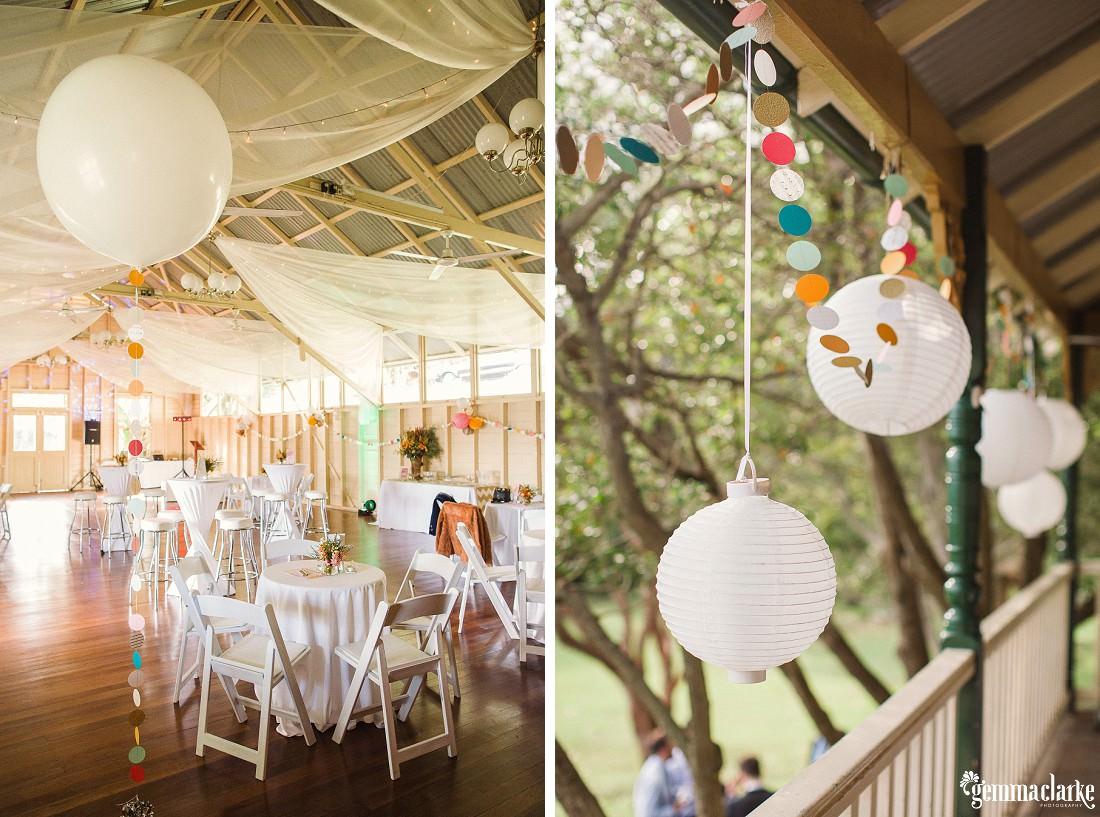 Reception setup at Athol Hall - Fun Sydney Wedding