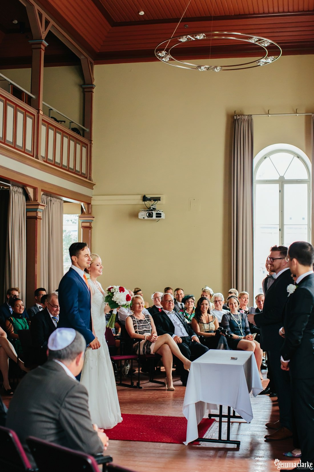 A wedding ceremony in progress