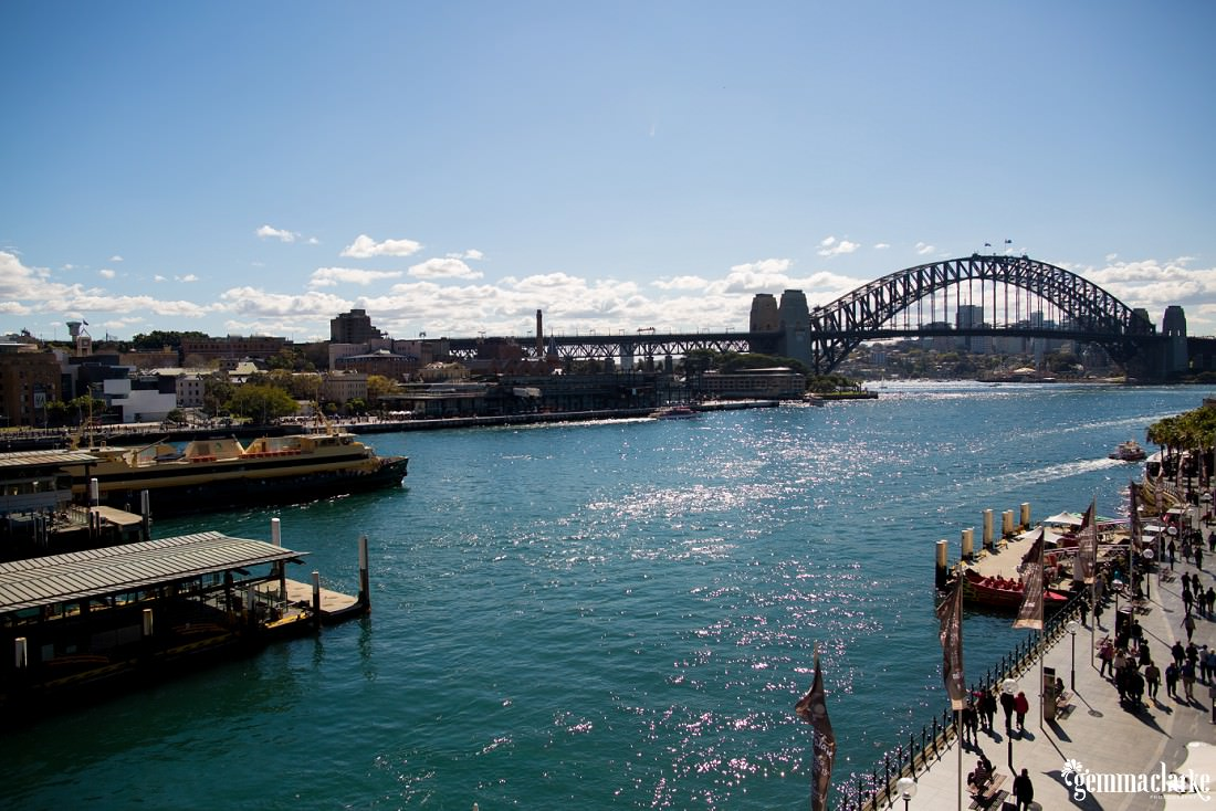 Sydney Harbour and the Sydney Harbour Bridge from Circular Quay