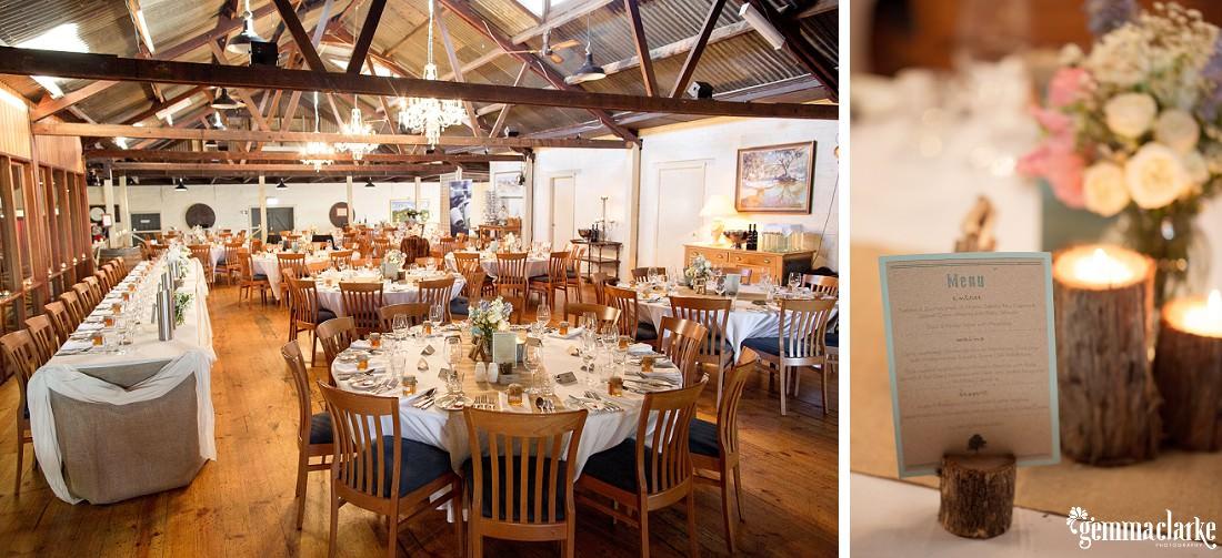 Vintage inspired wedding reception setup - Robert Oatley's Vineyard Wedding