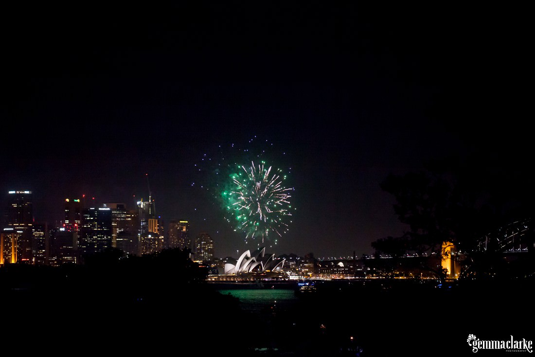 Fireworks over the Sydney Opera House