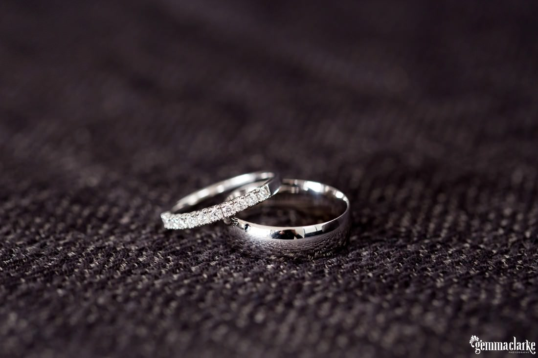 Two white gold rings