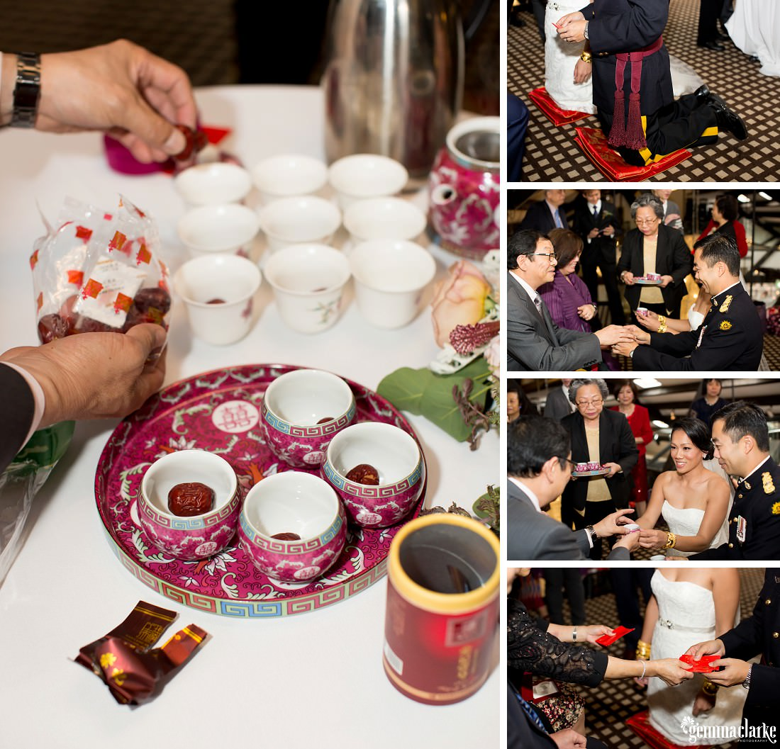 A wedding tea ceremony