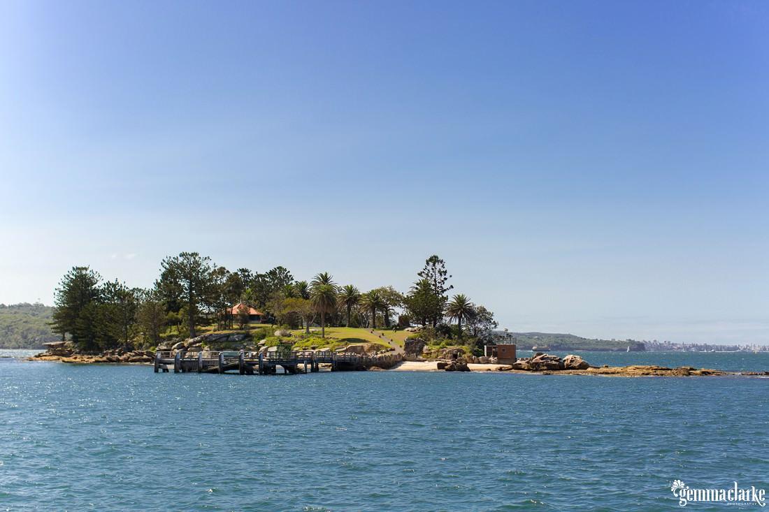 Shark Island in Sydney Harbour on a lovely sunny day