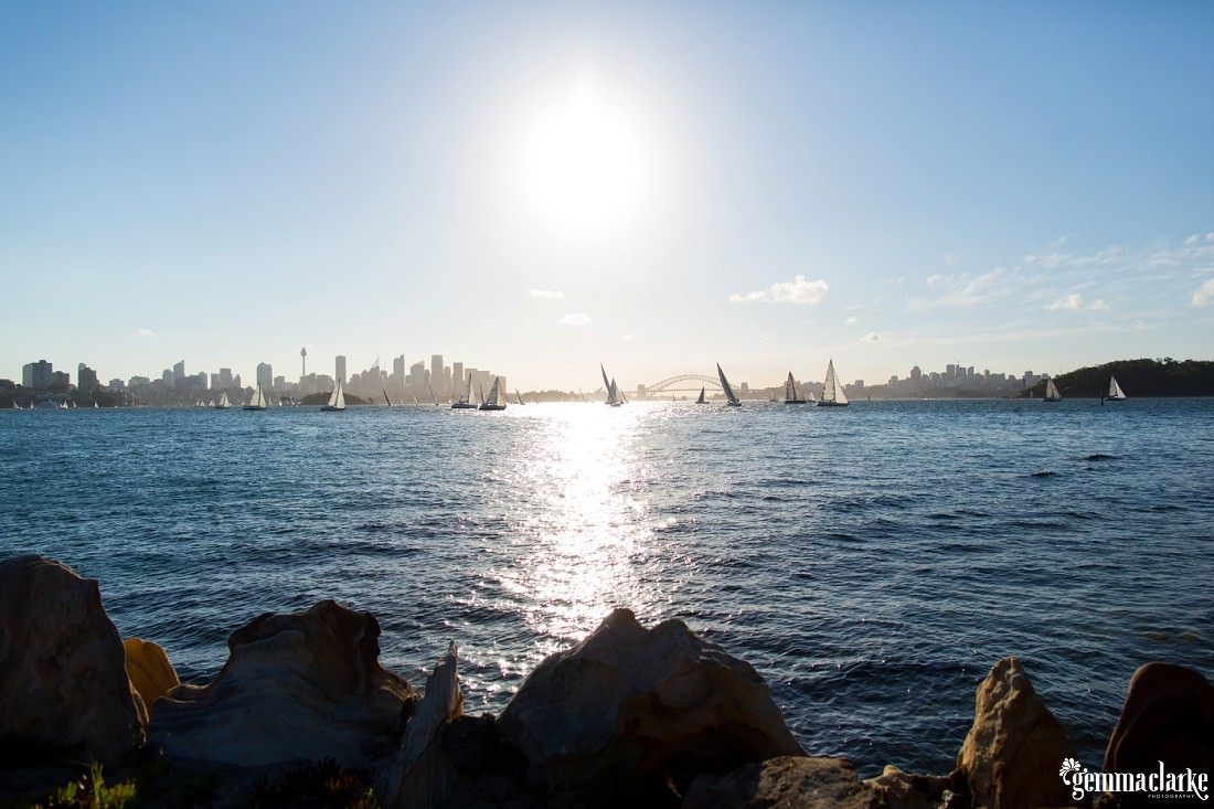 Sailing boats on Sydney Harbour