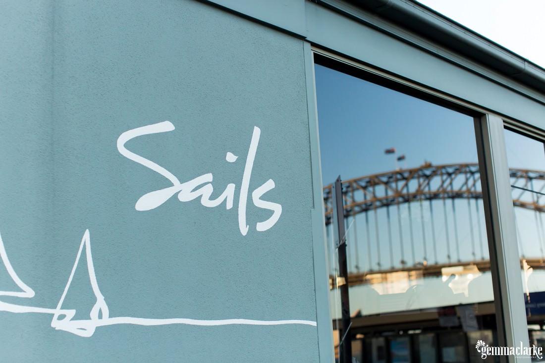 Sails Restaurant sign
