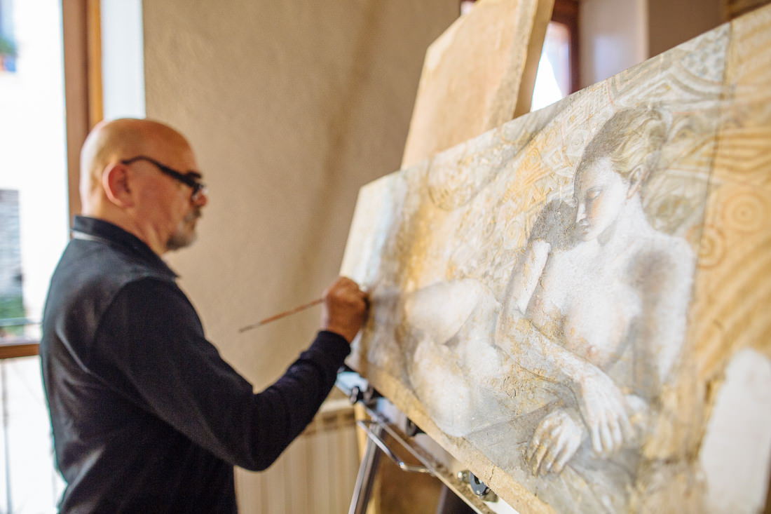 A Morning with Artist, Elvio Marchionni – Spello, Italy – Gemma Clarke Photography