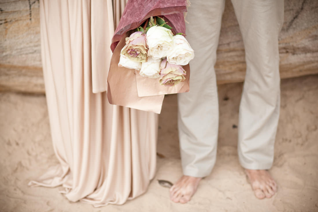 Tegan and Mark's Romantic Vintage-Inspired Beach Portraits – Balmoral Beach, Sydney – Gemma Clarke Photography