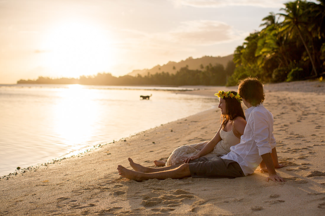 Natalie and Alex's Sunset Portraits in Paradise – Rarotonga, Cook Islands – Gemma Clarke Photography