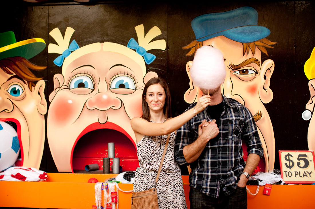 Sophia and Cohen's Hilarious and Romantic Luna Park Engagement photos – Milsons Point, Sydney – Gemma Clarke Photography
