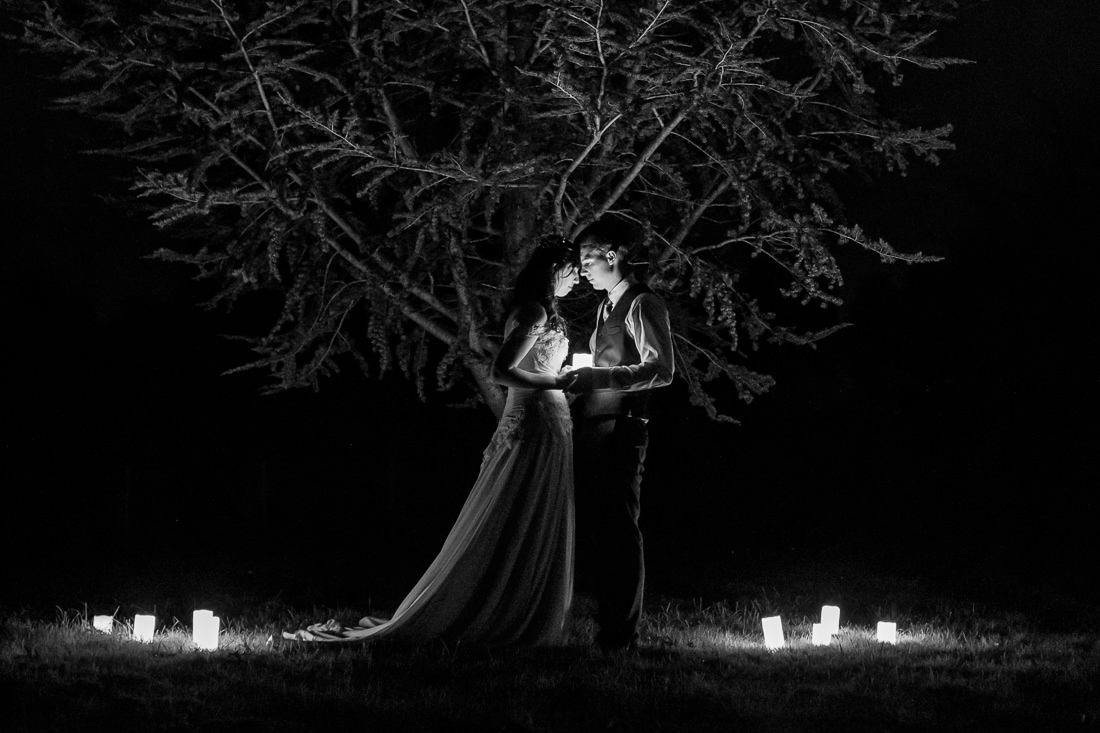 Night Wedding Photo