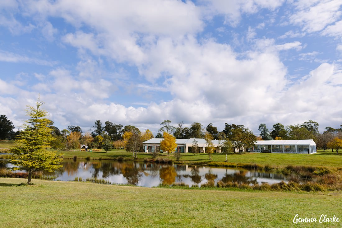 Stunning view of the Ennismor property in Berrima at this Autumn Southern Highlands Wedding