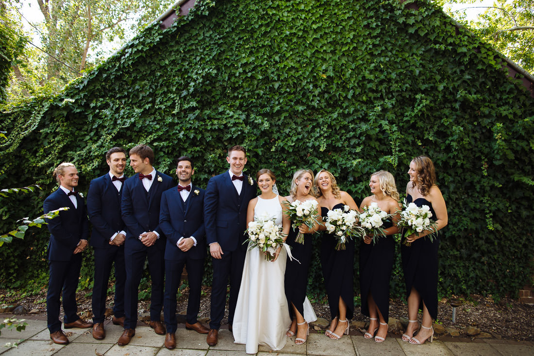 Peppers Manor House Wedding with fun bridal party