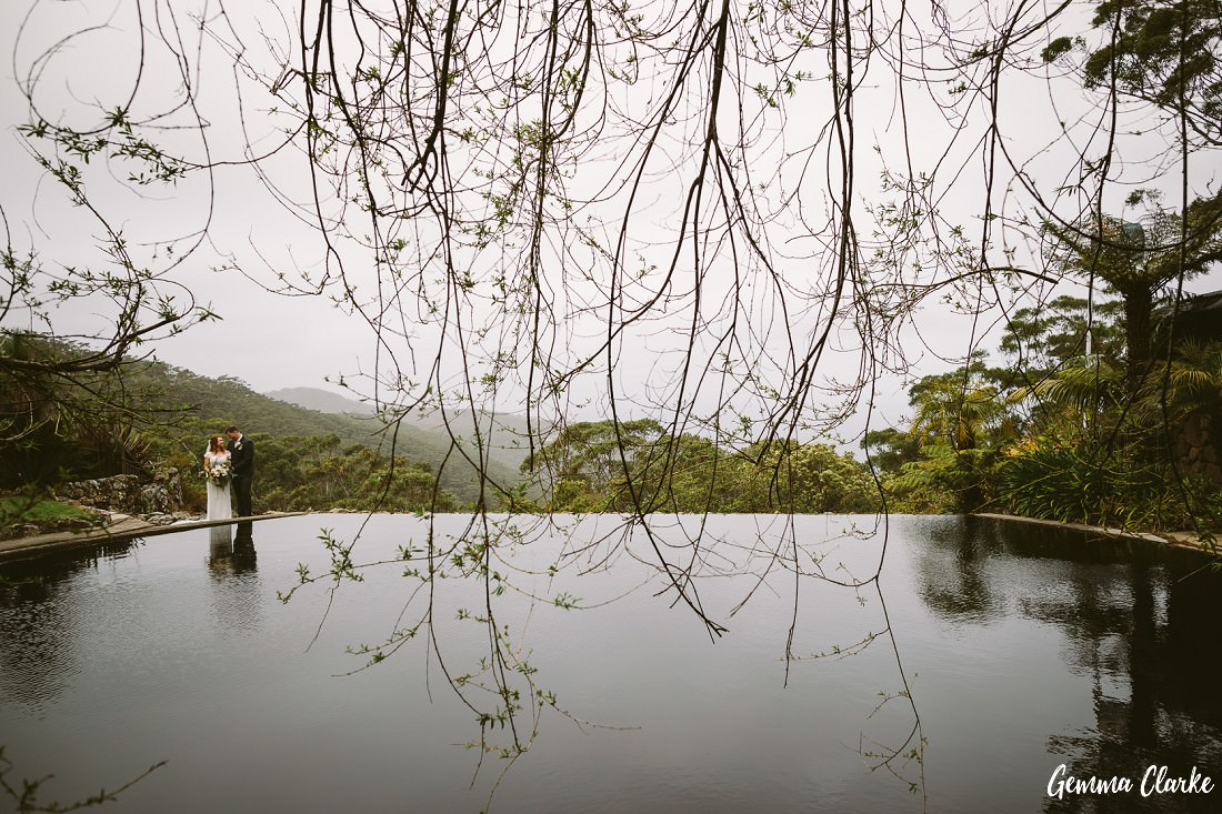 Rainy day wedding at this Stanwell Tops Wedding can still look magical!