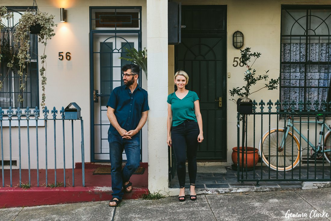 Gorgeous cottages at this Newtown Couples Portraits