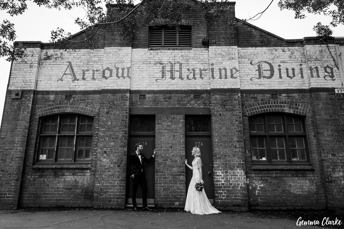 There are so many amazing buildings around Pyrmont to capture wedding photos at this Cafe Morso Wedding