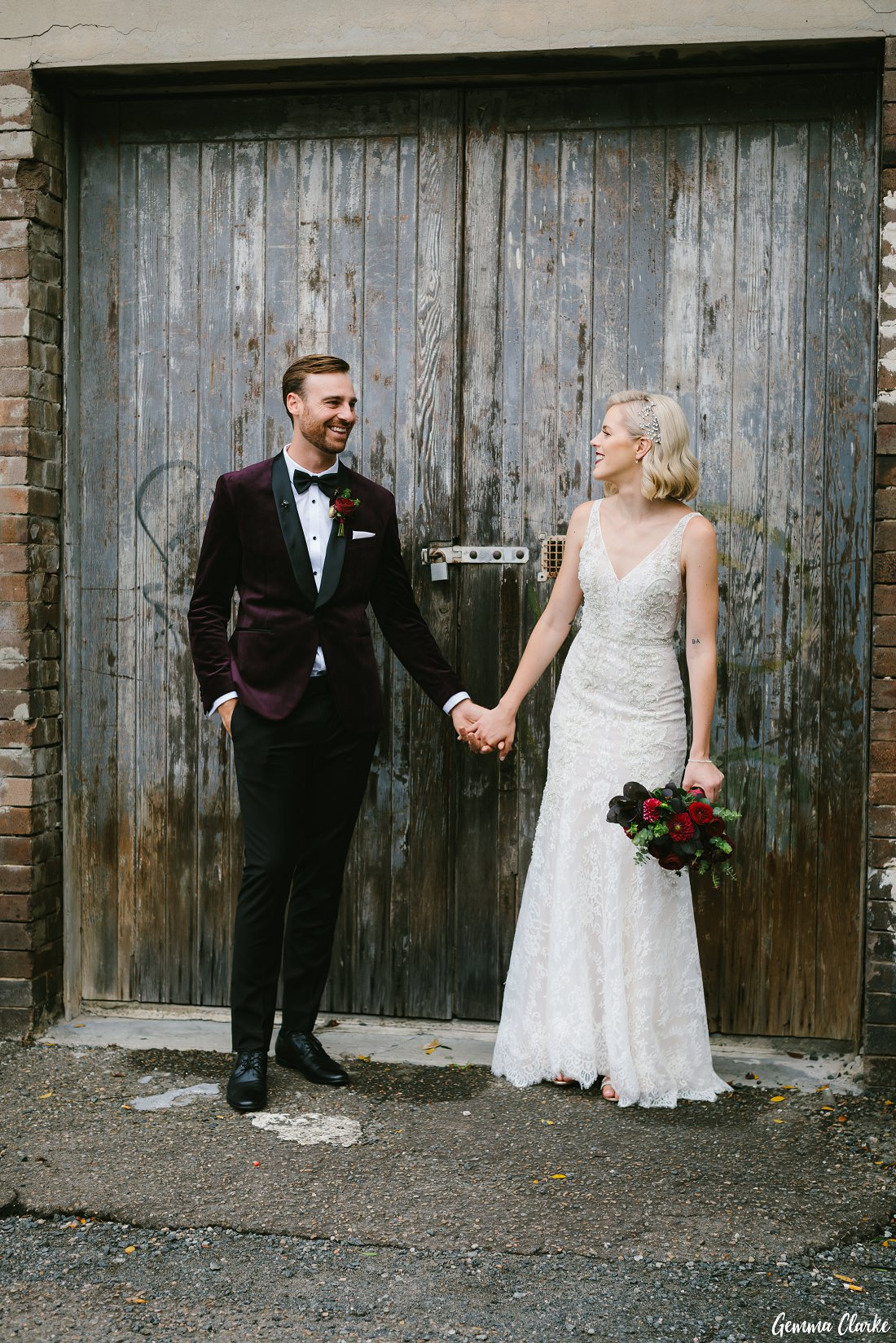 For the love of weathered doors at this Cafe Morso Wedding