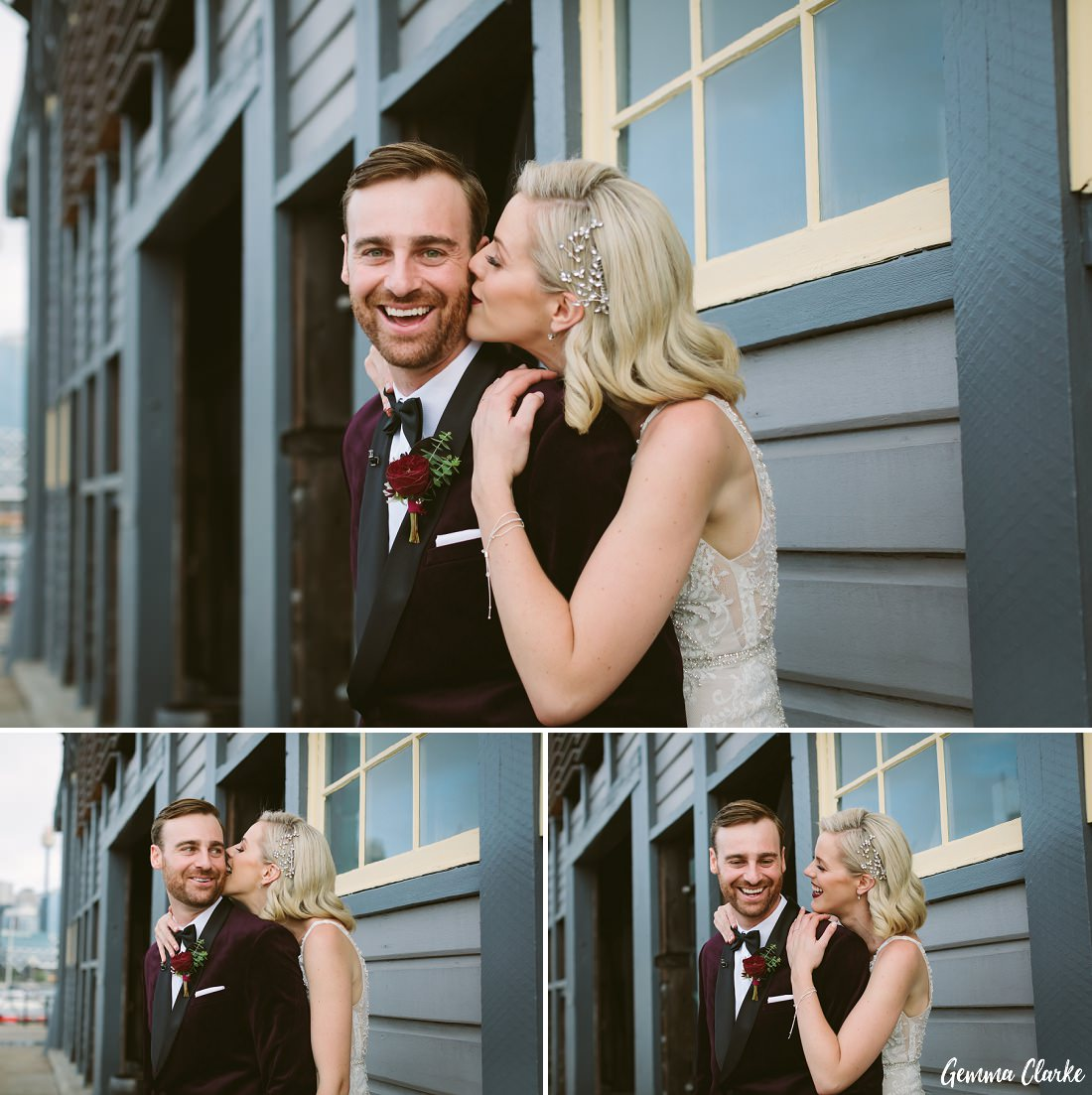 So much happiness for this bride and groom at this Cafe Morso Wedding