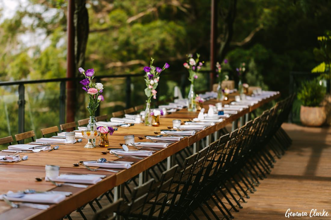 Beautiful single table setting at The Potager at this Mount Tomah Botanic Gardens Wedding