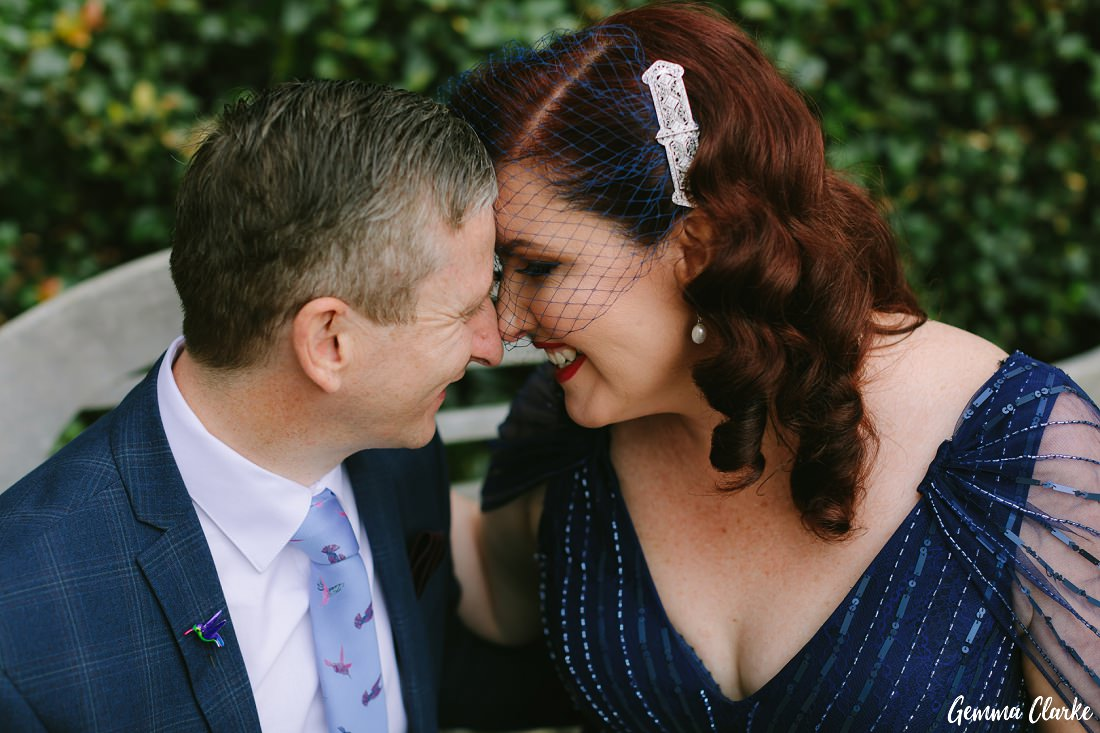 One of my faves from the day, Cherie and Jock having a quiet moment at their Mount Tomah Botanic Gardens Wedding