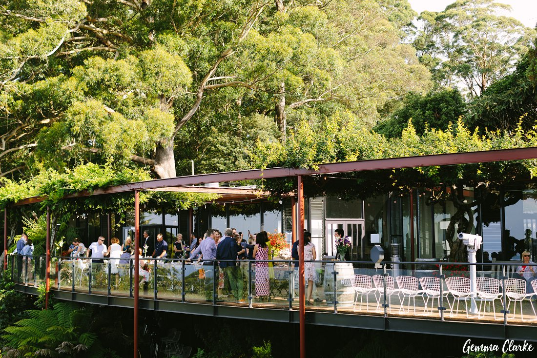 The perfect relaxed wedding reception location at The Potager at this Mount Tomah Botanic Gardens Wedding