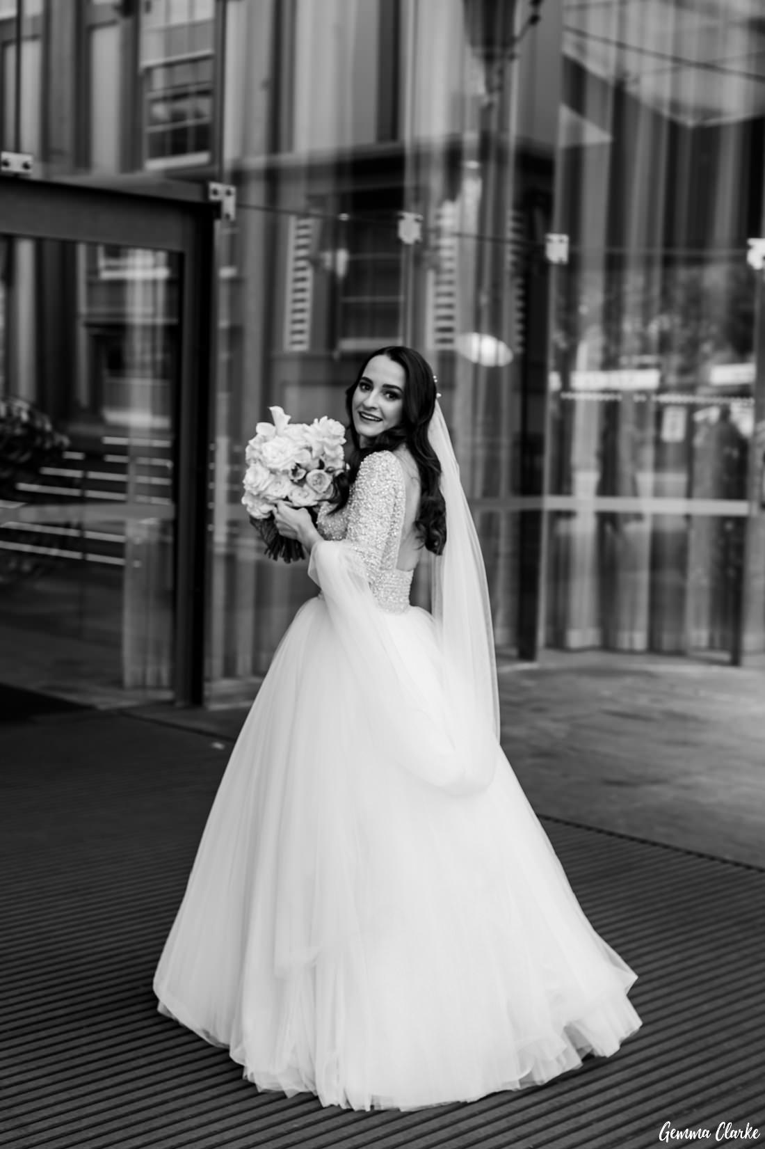 Classically beautiful Olga heads into her Ovolo Hotel Wedding very excited!