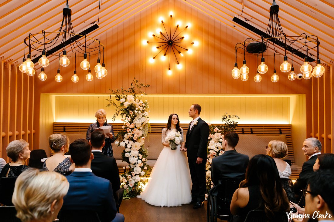 Stunning space to have your ceremony with Olga and Allan showing how its done at their Ovolo Hotel Wedding