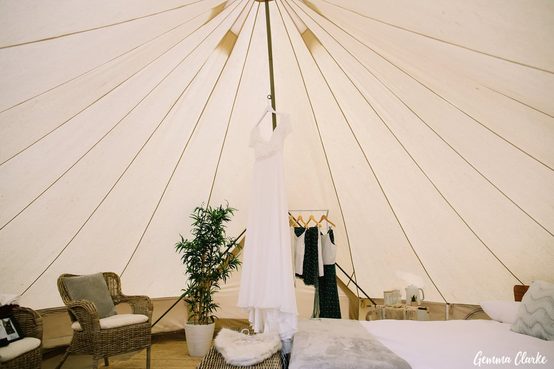 The bridal suite was a glamping tent at this Kangaroo Valley Winter Wedding