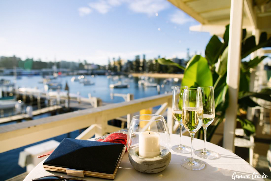 The perfect spot for a relaxed Manly Yacht Club Wedding