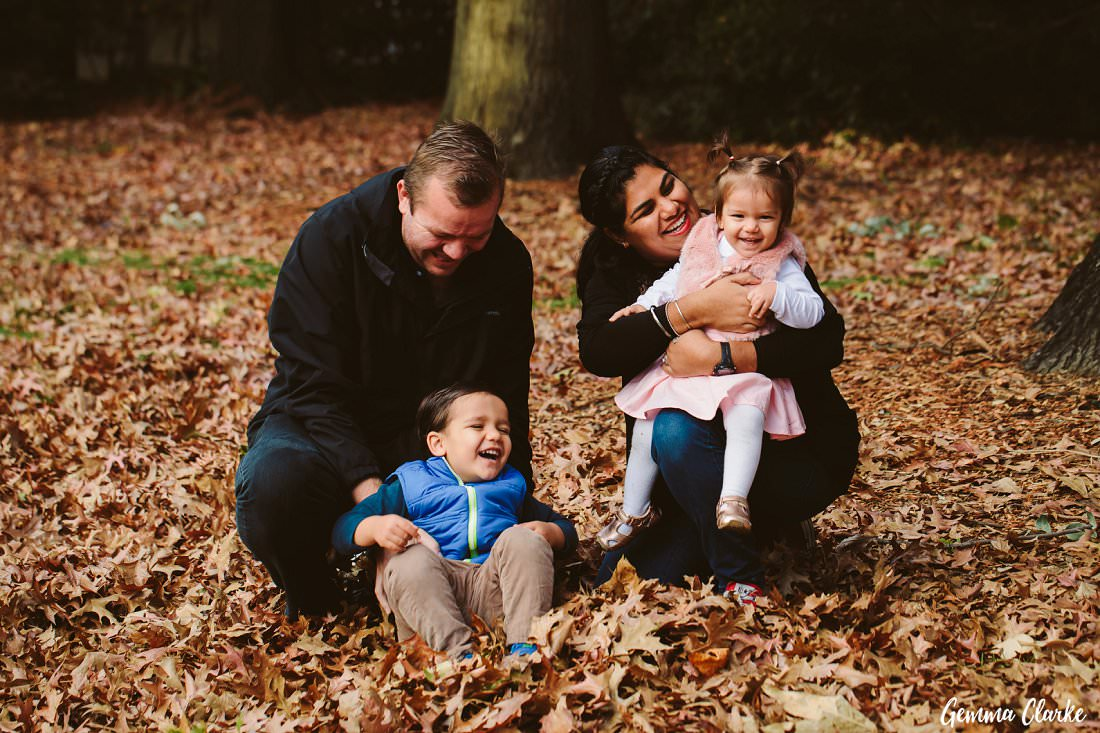 Time for some tickles with the kids at this Parramatta Park family portraits photo session