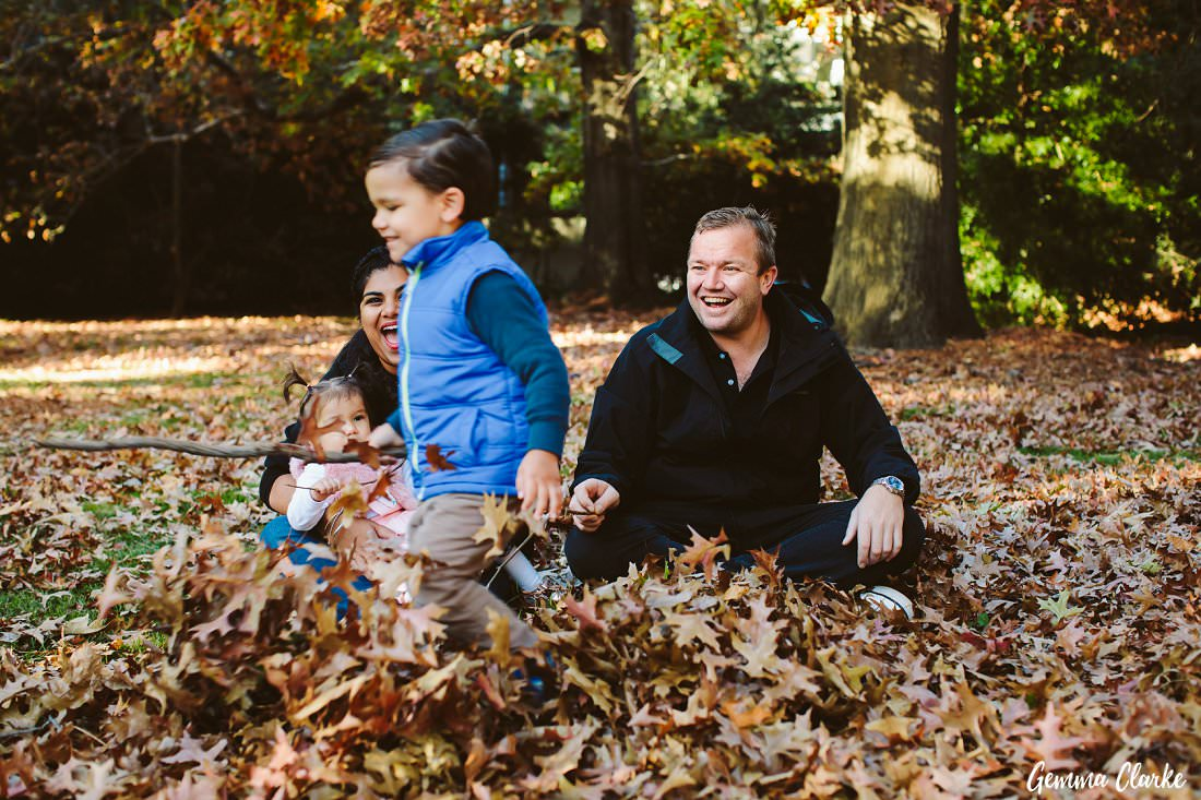 Lots of Star Wars games were being played while running through the leaves at this Parramatta Park family portraits session