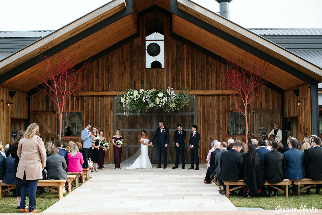 Stunning Halo decoration by Emma Blake Floral at The Stables Wedding at Bendooley Estate