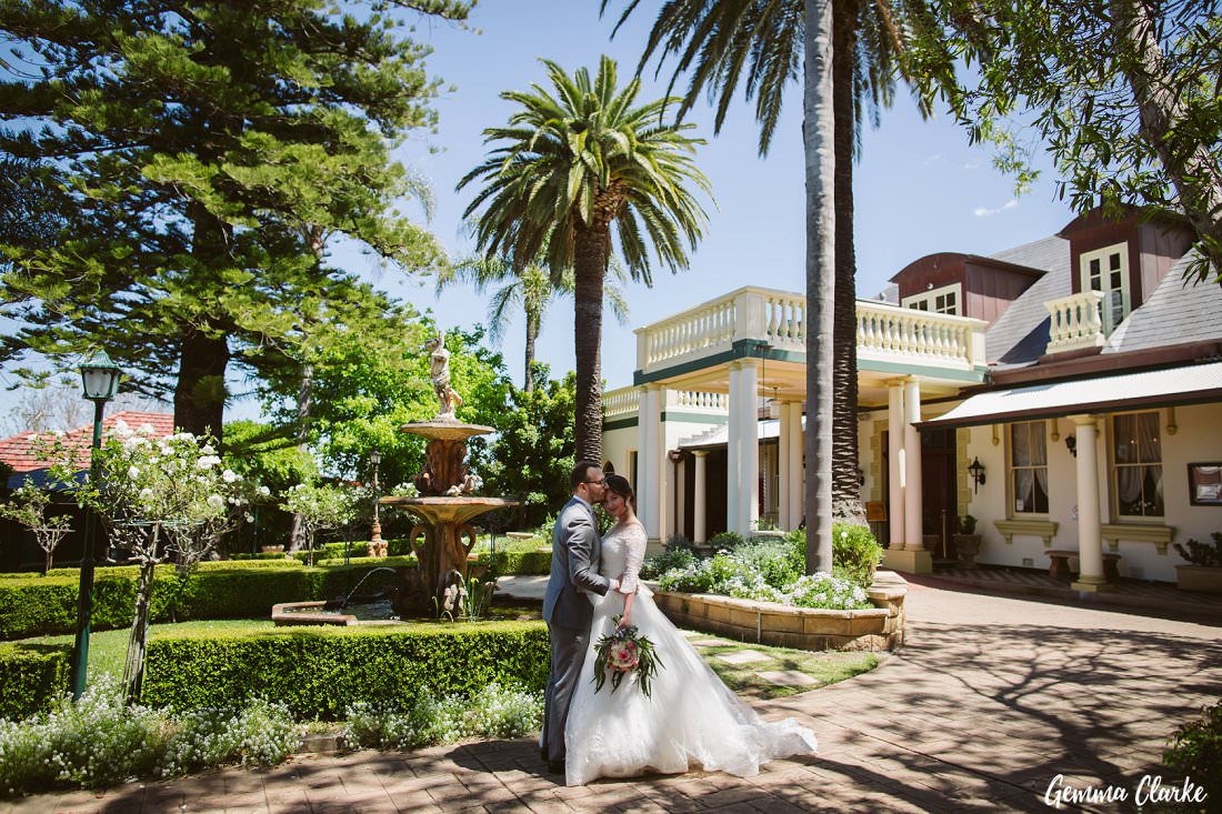 Beautiful photos in the gardens at this Peakhurst celebration, a Gardens on Forest Wedding