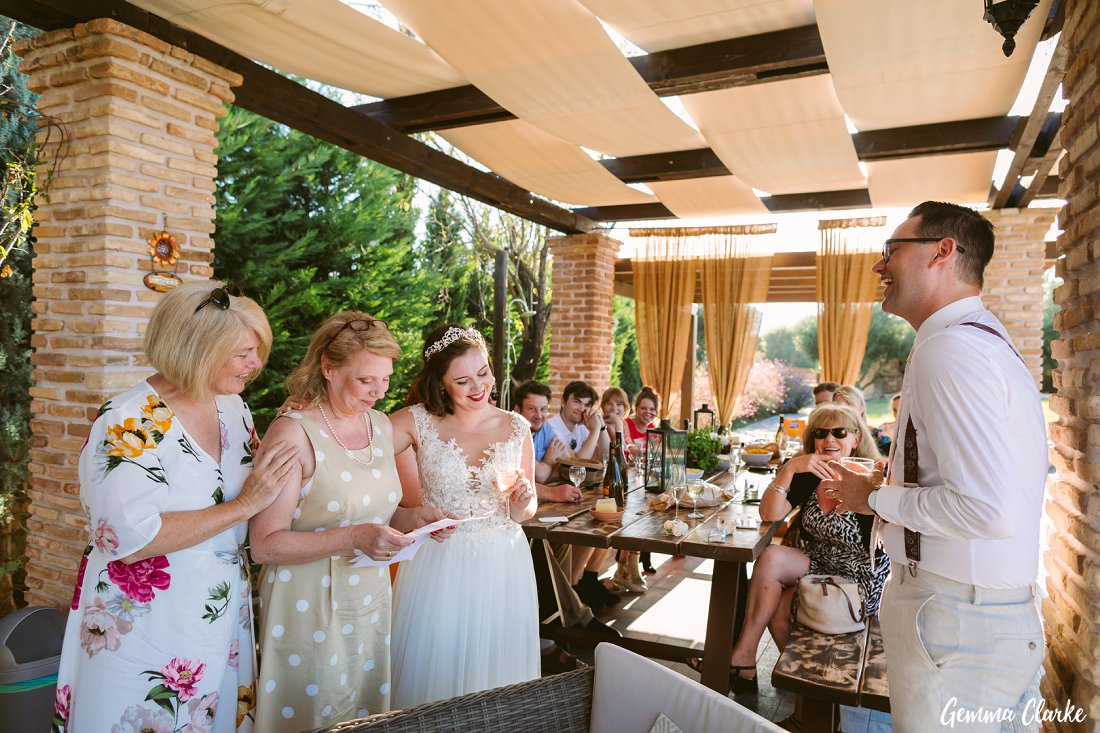 An intimate wedding with very special moments during the speeches at this Greek Villa Wedding