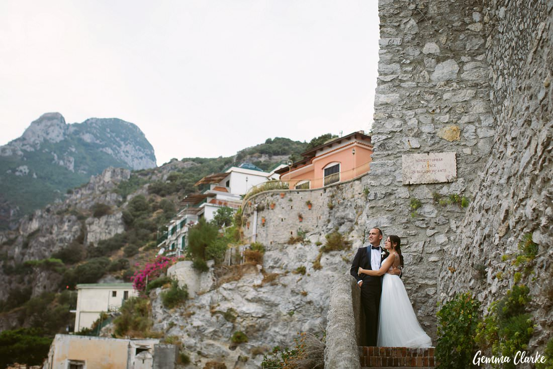 Overlooking Erchie this bride and groom chose a small village on the Amalfi Coast for their Italian Destination Wedding