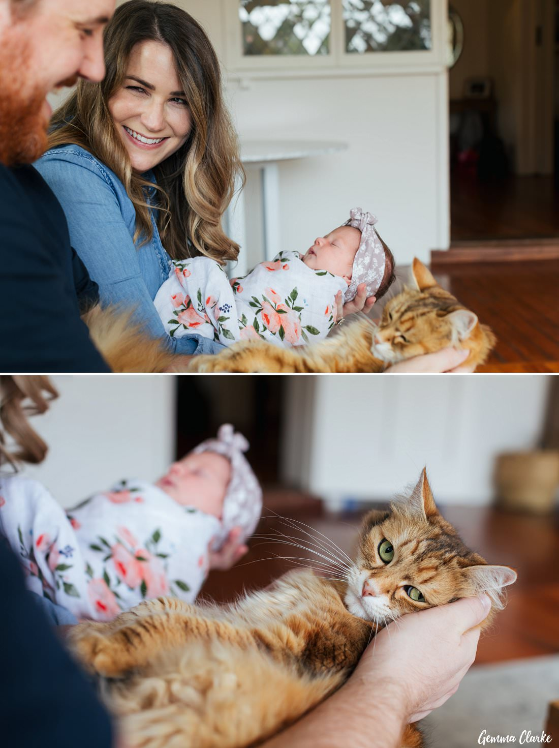 Your furbaby can make an appearance for your At Home Newborn Photos