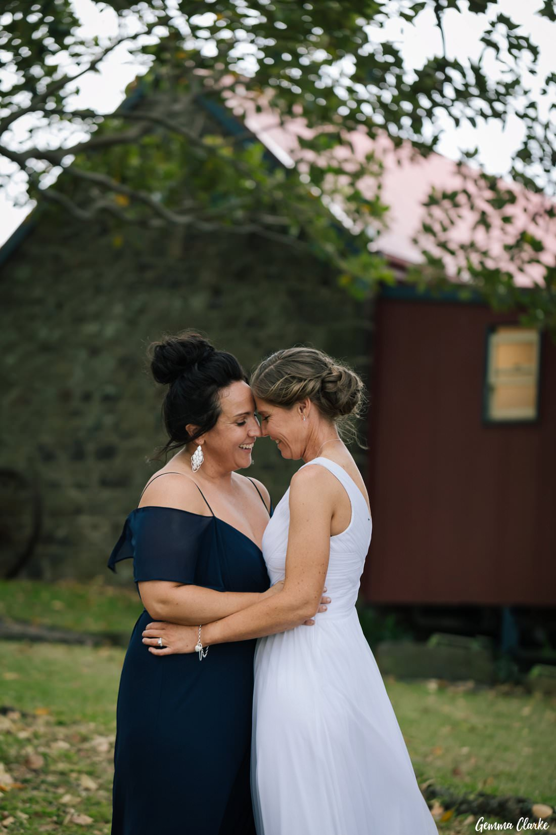 True happiness for these brides at their same sex Kiama wedding and their smiles could not be bigger!