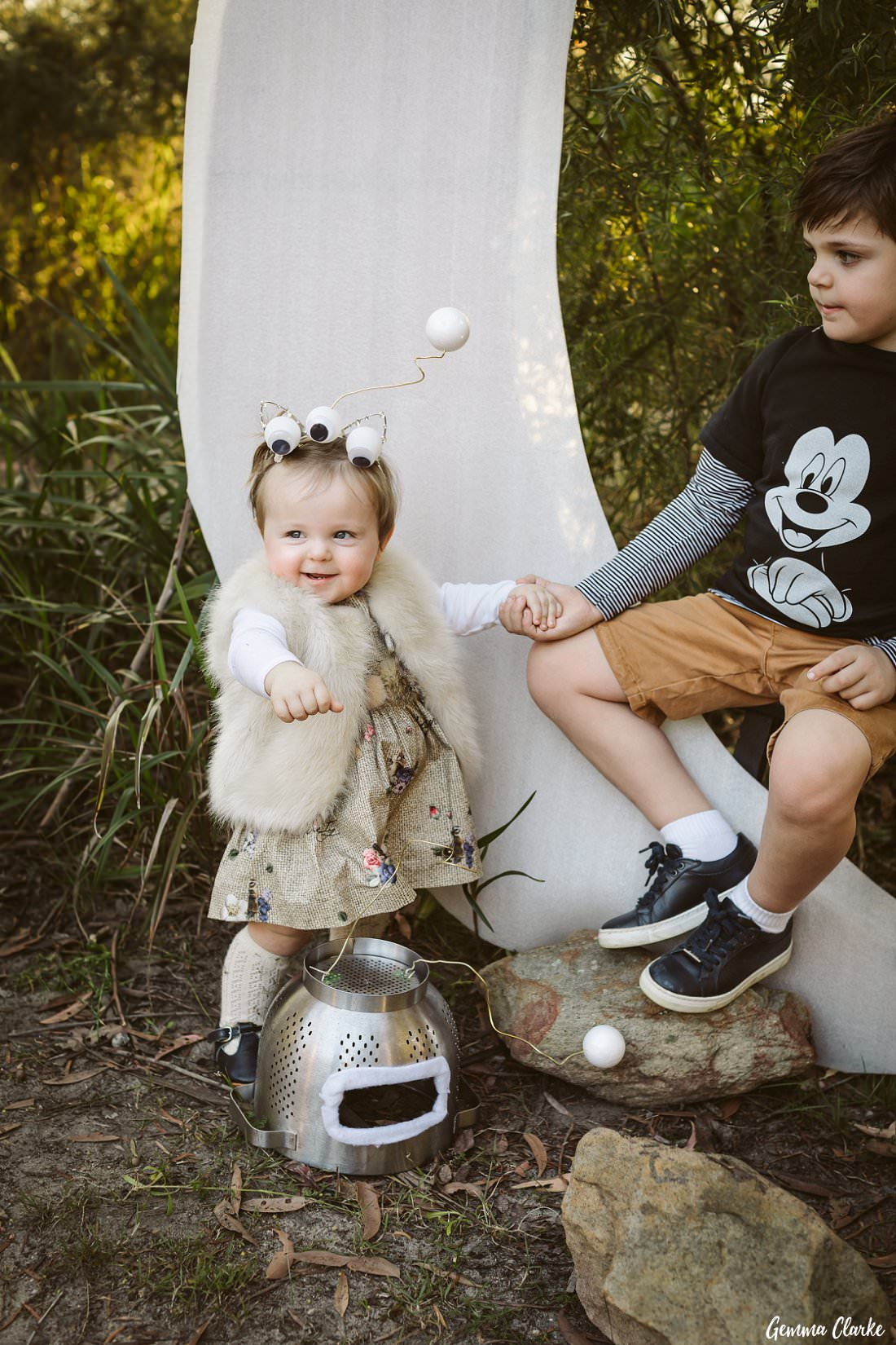 Cute baby alien at this space themed photoshoot