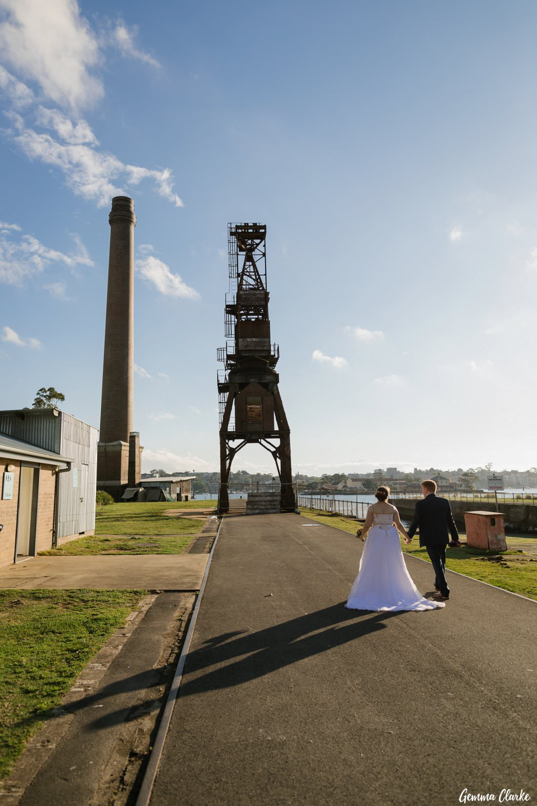 The amazing industrial structures make a dramatic backdrop for this Cockatoo Island Elopement